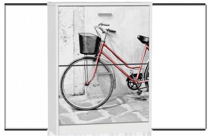 Zapatero 2 trampones serigrafiado bicicleta