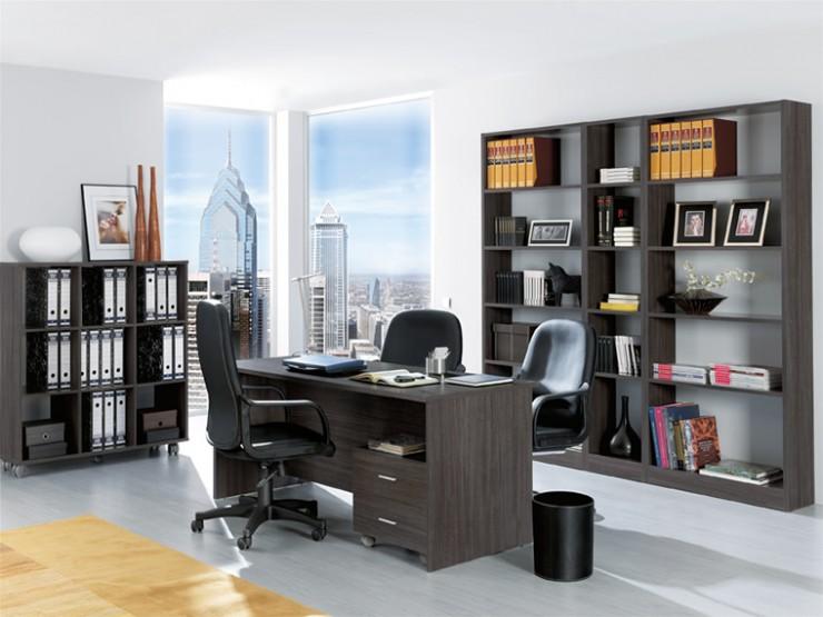 Composición de oficina moderna