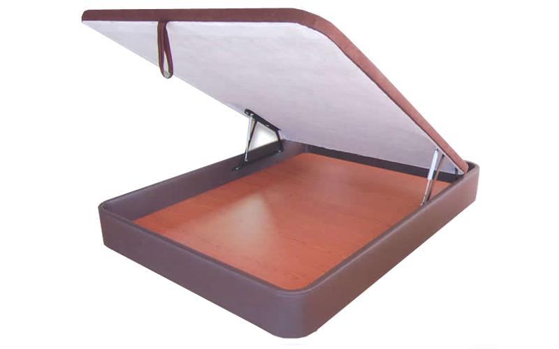 Canapé abatible con base tapizada en piel