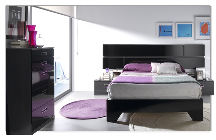 dormitorio matrimonio en negro