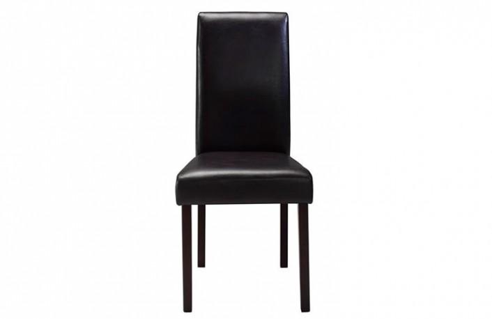 Silla comedor modera tapizado polipiel negro