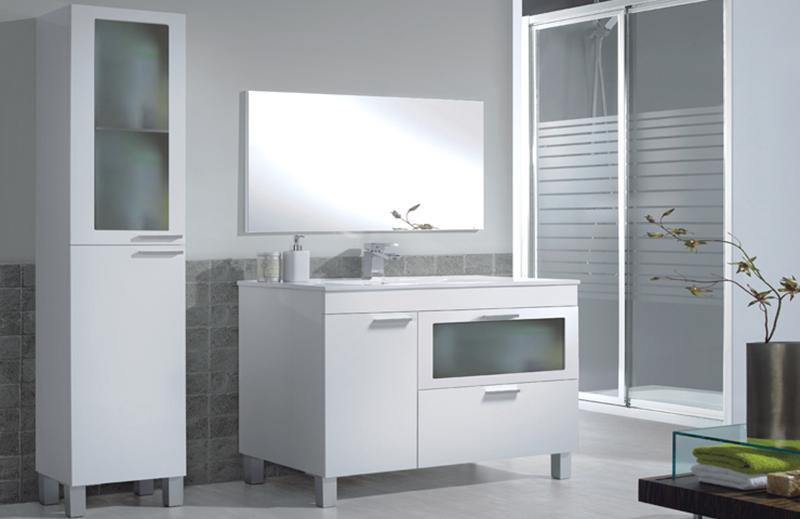 Muebles baño blancos