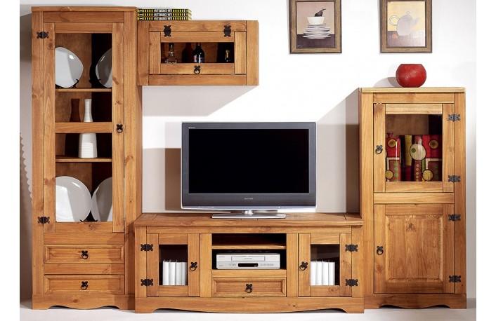 salon madera maciza estilo rústico