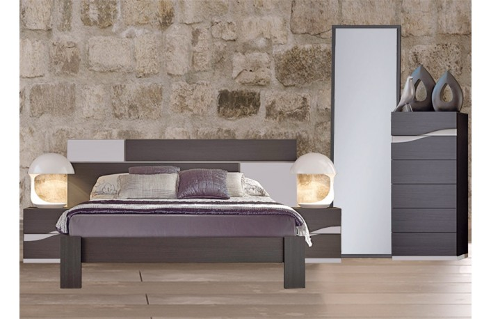 Cabecero cama y 2 mesitas de noche estilo moderno