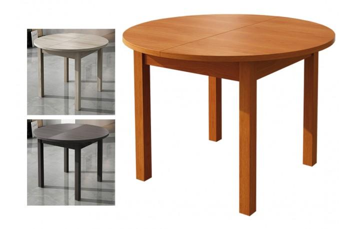 Mesa comedor redonda y extensible en varios colores