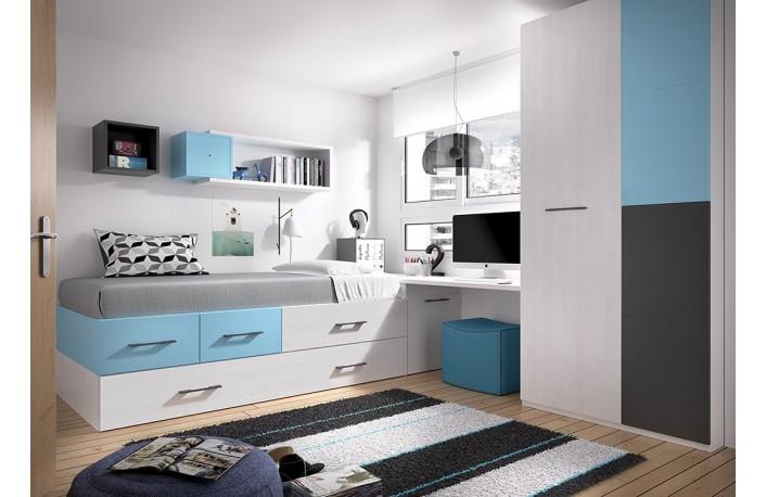 cama-nido-cajones-escritorio-armario-azul-blanco