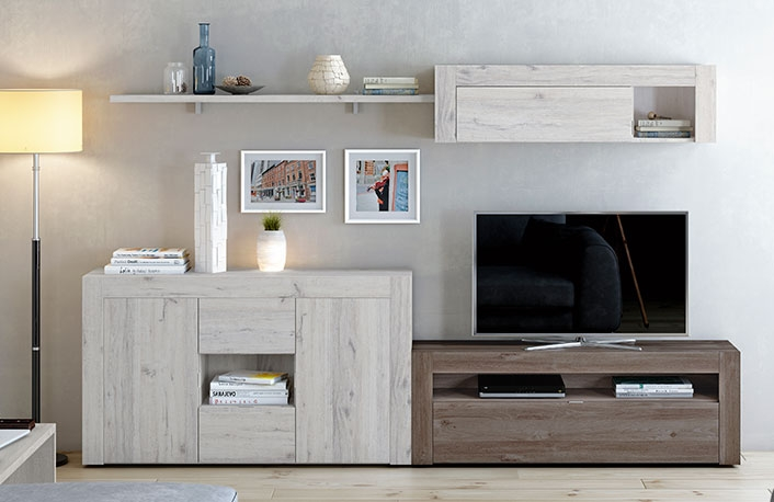 Muebles de salón estilo moderno con aparador