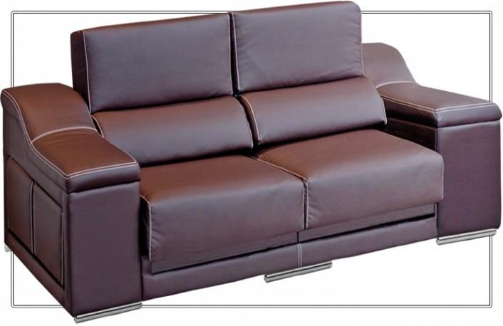 Sofá dos plazas con asientos extraíbles