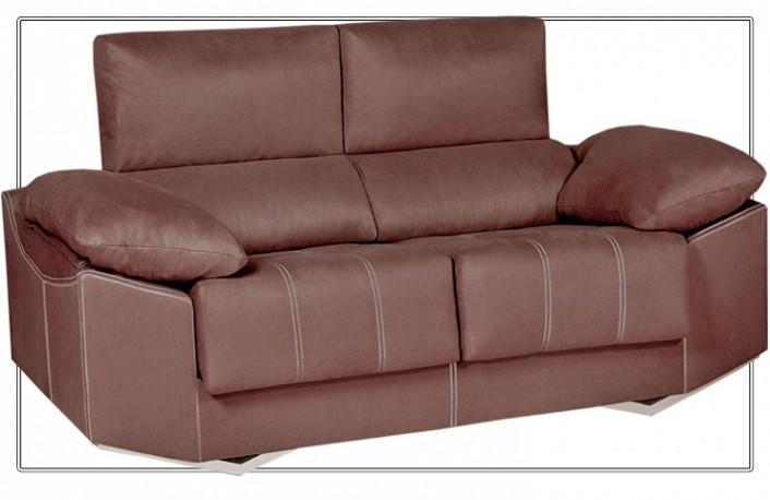 Sofá dos plazas moderno de ecopiel con asientos reclinables