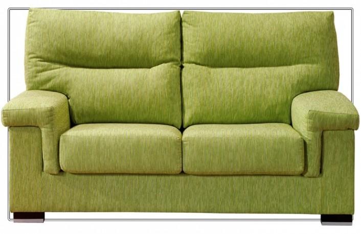 Sofá dos plazas moderno tapizado en tela
