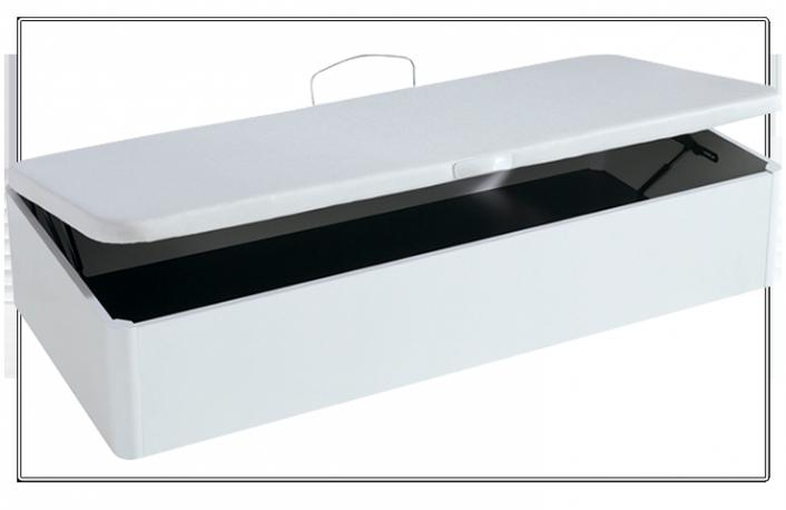Canapé abatible lateral 90x190 con tapizado 3D