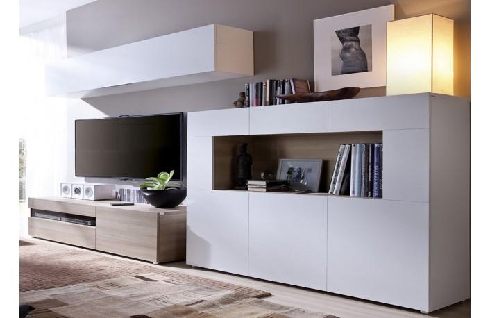 Mueble de salón con aparador de diseño minimalista