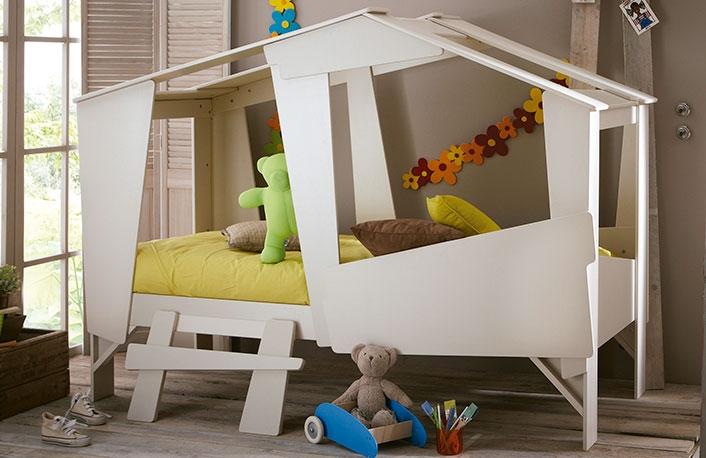 Cama forma de cabana