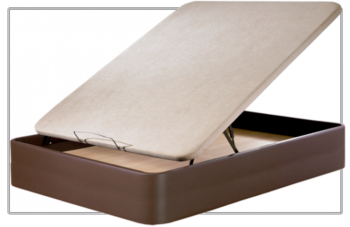 Canape abatible tapizado en piel ecotextil 090 x 190 cm
