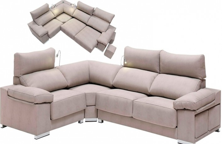 Sofa rinconera chaiselongue de ecopiel