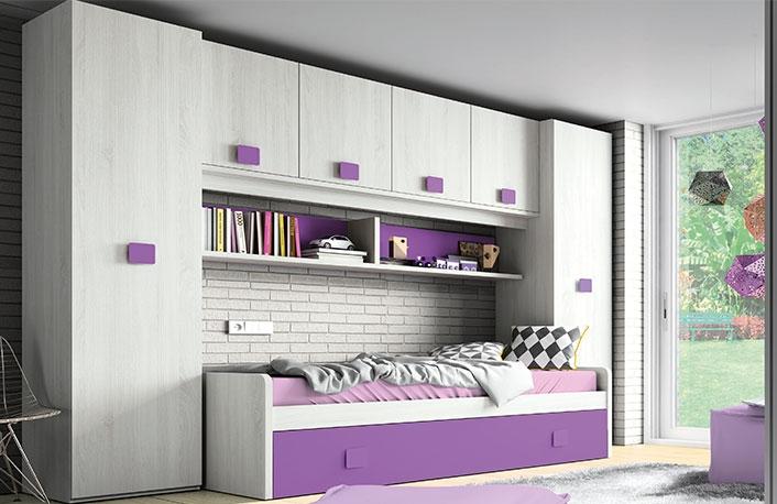 Dormitorio juvenil hibernian morado