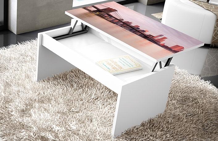 Mesa centro serigrafiada kit elevable