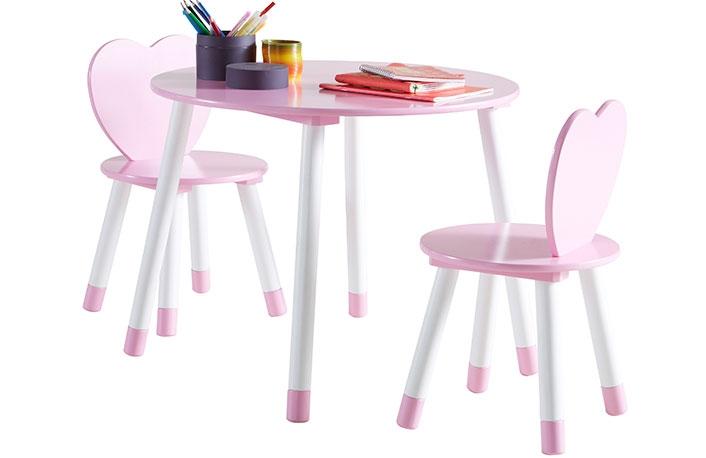 Set mesa y 2 sillas princesa