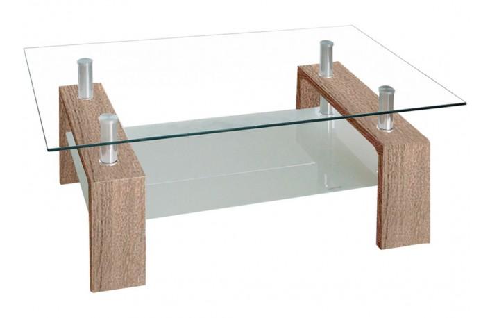 Mesa de centro con tapa de cristal