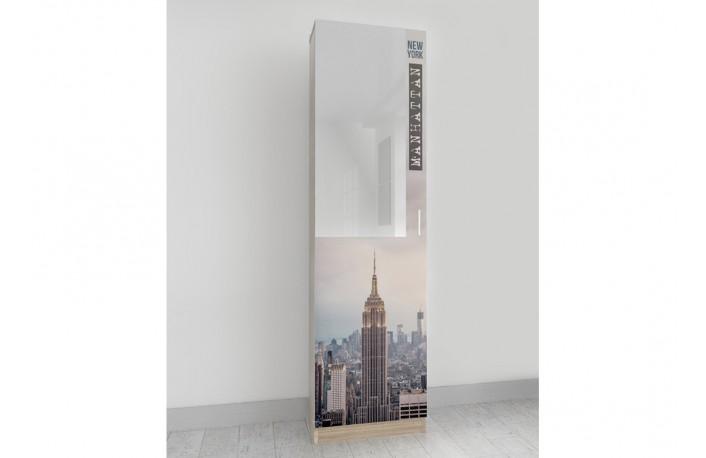 Zapatero con espejo serigrafiado con Empire State