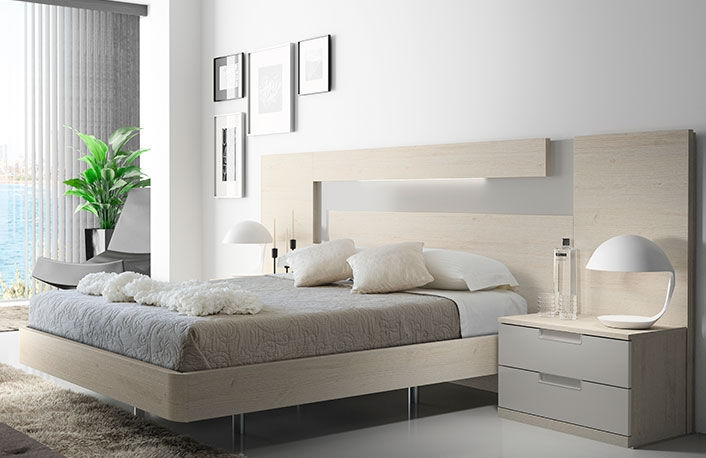 Dormitorio exclusivo nordico gris