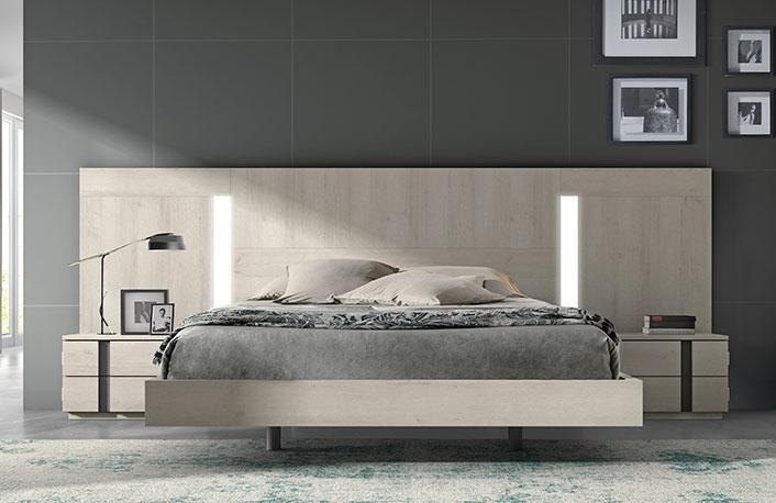 Dormitorio moderno nordico pizarra