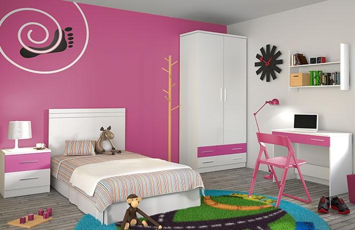 Dormitorio juvenil con mesa estudio