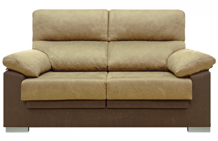 Sofa 2 plazas reclinable y extraible