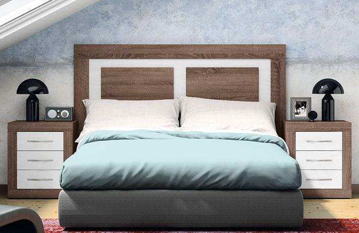Dormitorio cabecero plafones britannia soul blanco