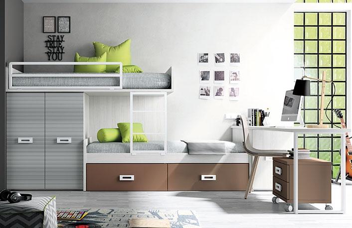 Dormitorio juvenil hibernian moka