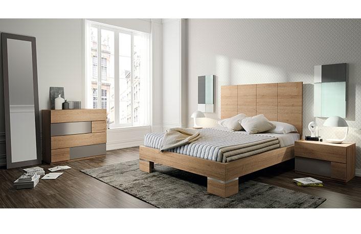 Dormitorio moderno nogal vison