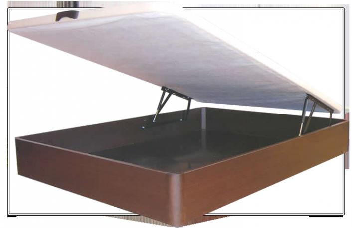 Canape abatible de madera 80x200 con base tapizada