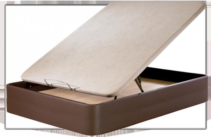 Canape abatible tapizado en piel ecotextil 080 x 190 cm