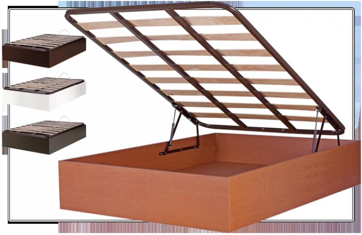Canape abatible 90x190 con somier de laminas en 4 colores