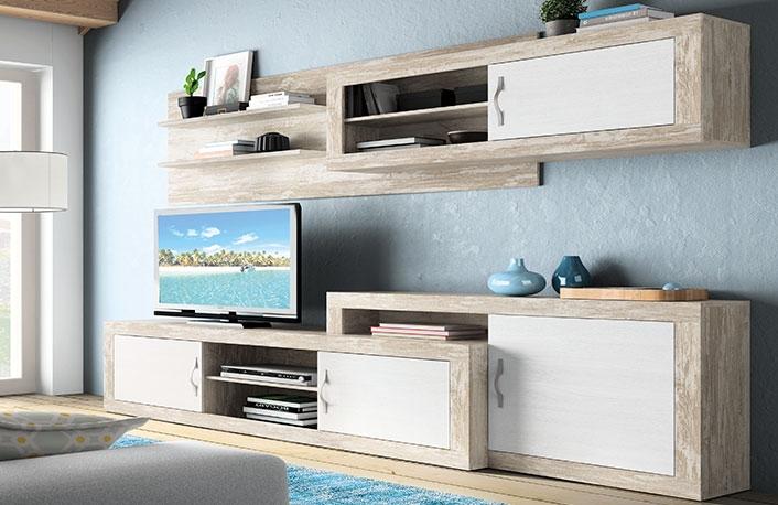 Composicion salon extensible a 303 cm vintage soul blanco