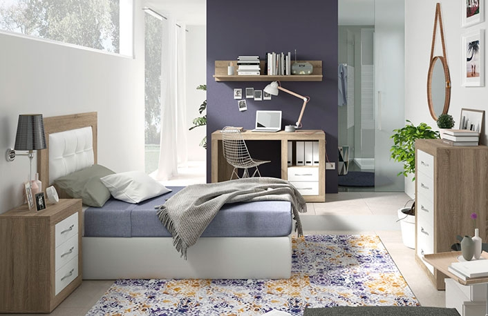 Dormitorio juvenil cambrian soul blanco