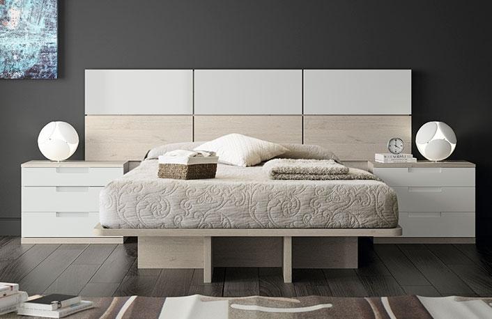 Dormitorio moderno nordico blanco