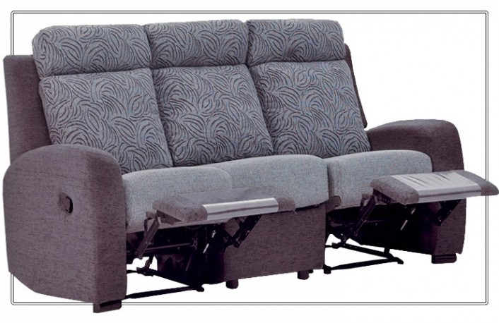 Sofa relax de tela estampada en color gris