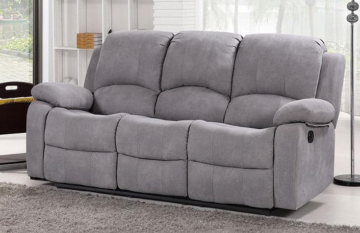 Sofa relax tapizado en tela apertura palanca
