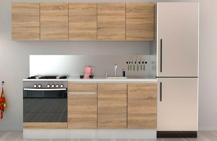 Composicion mobiliario cocina blancoroble