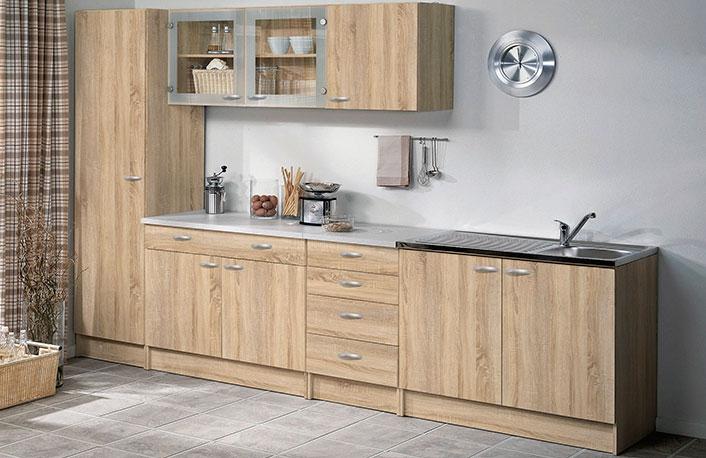 Composicion mobiliario cocina roble