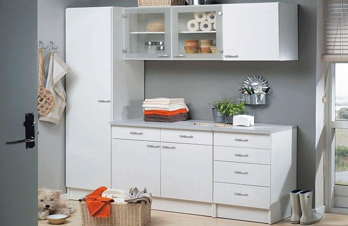 Composicion mobiliario cocina blanco