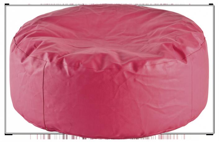 Puff redondo amoldable de piel sintetica