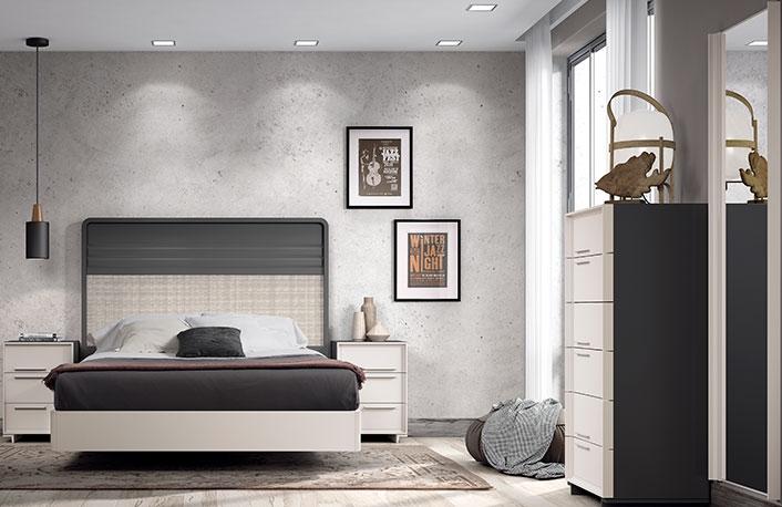 Dormitorio lacado con sinfonier