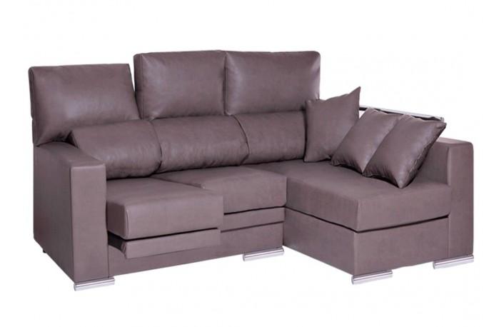 Sofa chaise longue piel sintetica
