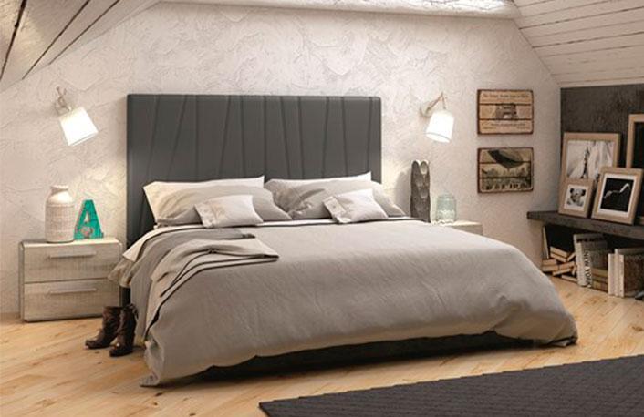 Dormitorio matrimonio coral gris