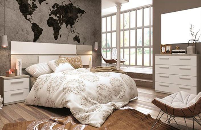 Dormitorio matrimonio coral soul blanco